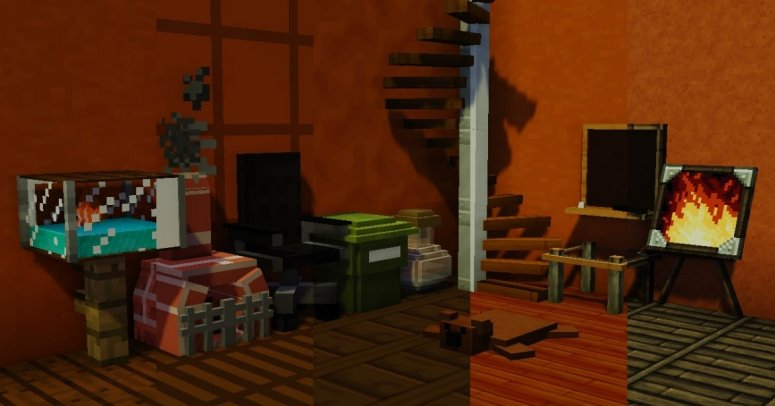 MrCrayfish's Furniture — мод на мебель 1.15.0, 1.14.4, 1.12.2, 1.7.10