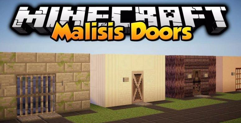 Malisis Doors — мод на двери 1.13.2, 1.12.2, 1.7.10
