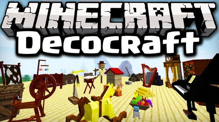 DecoCraft — мод на мебель и декор 1.14.0, 1.13.2, 1.12.2, 1.7.10