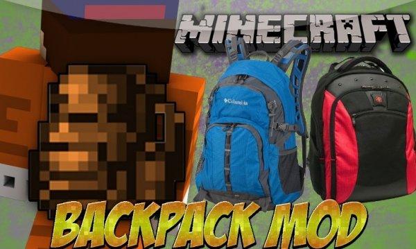 Backpacks — мод на рюкзаки 1.16.2, 1.15.2, 1.12.2, 1.7.10