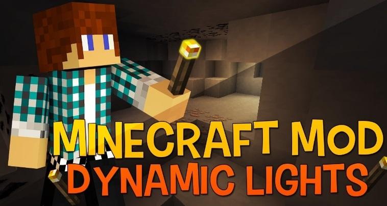 Dynamic Lights — реалистичное освещение 1.14.0, 1.13.2, 1.12.2, 1.7.10
