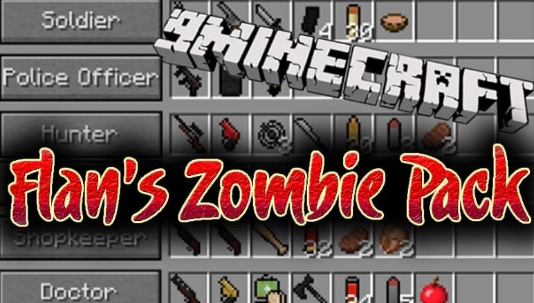 Zombie Pack - мод на зомби апокалипсис 1.14.4, 1.12.2, 1.7.10